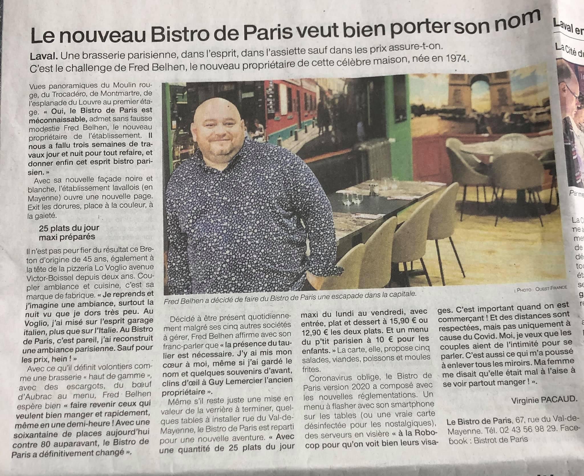 Bistro De Paris Restaurant Laval Bistro